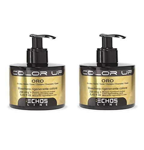 echosline Color Up–máscara regenerante Color Oro–Nuance Dorado (250ML) 2unidades