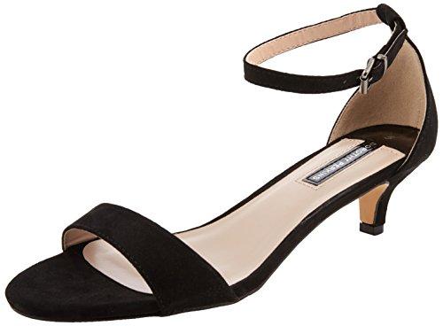 Dorothy Perkins Sundae Sandals, Zapatos con Tacon y Correa de Tobillo para Mujer, Negro (Black 130), 42 EU