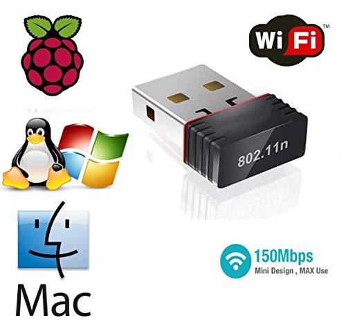 XP 7 Richer-R Adaptateur r/éseau sans fil Linux et Mac 8,10 Vista 150Mbps 802.11N Adaptateur WiFi USB Nano Taille Support dongle r/éseau sans fil Windows 2000
