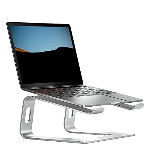 meacom Laptop Ständer, Alulegierung Laptophalter Universal Notebook Halterung Computer Halter Tablet Stand Kompatibel mit 10~15.6 inch MacBook Pro/Air, Samsung, Acer, Huawei MateBook (Silber)