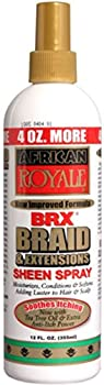 African Royale BRX Braid and Extensions Sheen Spray 12 oz  Pack of 3
