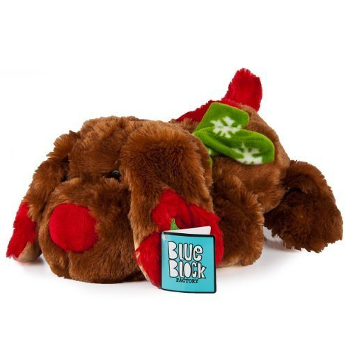 Blue Block Factory Plush Animal Toy - Chocolate Brown Holiday Christmas Puppy by Blue Block Factory