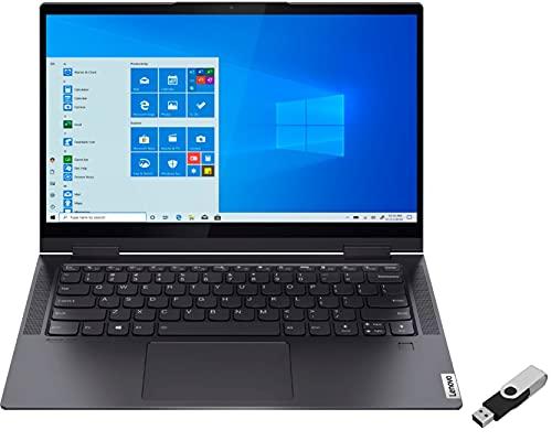 2021 LENOVO Yoga 7i 2-in-1 Laptop 14 inch FHD Touchscreen 11th Core i7-1165G7 EVO Iris Xe Graphics 12GB DDR4 1TB NVMe SSD WI-FI 6 Win 10 Pro Fingerprint Backlit Keyboard w/ Ontrend 32GB USB Drive