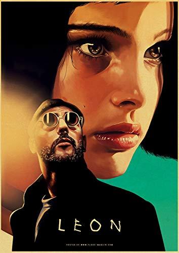 jiayouernv Vintage Poster Classic Movie Pulp Fiction Kill Billfight Club Poster Retro Kraft Paper Posters Decorative Art Painting C482 40X60Cm