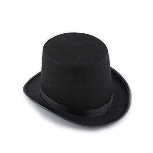 """Top Hat,7.87""""7.09"""" Unsex Magician Hat Black Top Hat,Jazz Hat Halloween Party Costume Props,for Halloween, Masquerade Party Etc."""