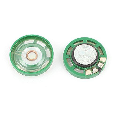 uxcell 2個1 / 4W 0.25W 8オーム 27mm ラウンド外部磁石スピーカースピーカー マグネットスピーカー