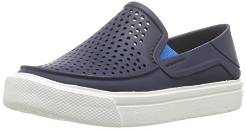 crocs Kids' Citilane Roka Slip-On Sneaker Flat, Navy, 7 M US Toddler