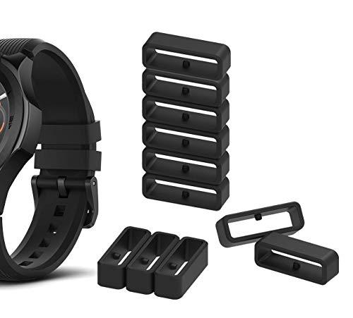 Tencloud Ersatz-Uhrenarmband-Verschluss, Silikon, Sicherheitsschlaufe, Zubehör für 14 mm, 16 mm, 18 mm, 20 mm, 22 mm, 24 mm, 26 mm, 28 mm Uhrenarmband
