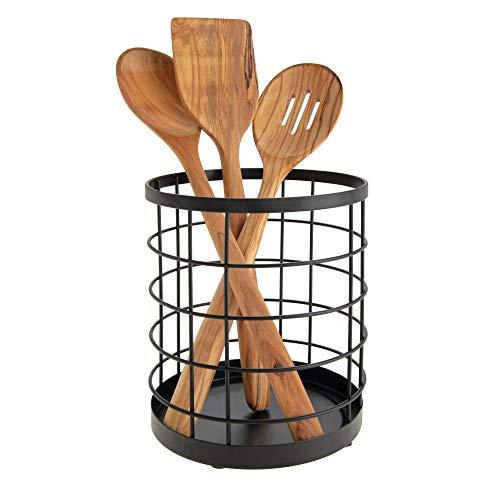 iDesign Porta utensilios de cocina para la encimera, portacu
