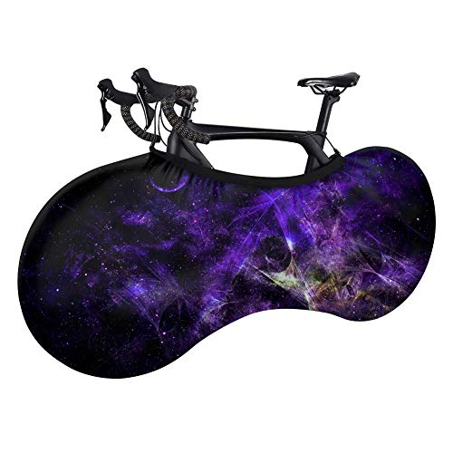Bike Cover, Bicycle Wheel Cover Dustproof Stretch Bike Jacket Washable Stretchy Dirt Proof Fabric Nebula Pattern Mountain Bike Cover