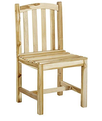 Trendy-Home GmbH Trendy-Home massiver Stabiler Teaksessel Durango Teak Stuhl Gartenstuhl Holzstuhl ohne Armlehne