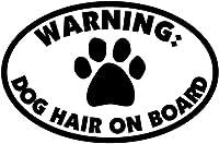 UYEDSR 車のステッカー2pc 15.2Cmx10.1Cm警告犬の毛オンボードビニール車のステッカーデカールサイン-黒