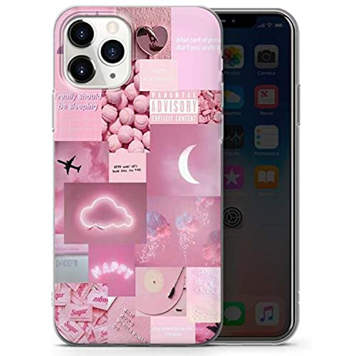 Aesthetic Collage Transparent Soft Phone Case for iPhone 11 12 Pro Max SE 2020 6s 7 8 Plus X Xs Max Xr Cute Abstract Art Cover