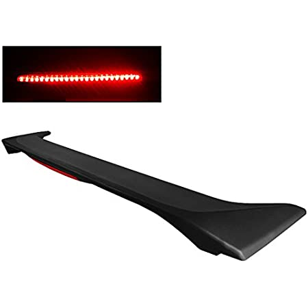 2007 2008 2009 2010 Trunk Spoiler Compatible With 2006-2010 Honda 8th Civic Coupe Unpainted Black ABS Added On Rear Deck Lip Wing With 3rd Brake LED Light by IKON MOTORSPORTS