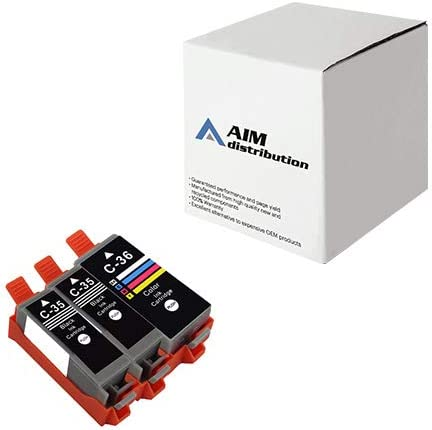 AIM Compatible Replacement for Canon PGI-35/CLI-36 Inkjet Combo Pack (2-Black/1-Color) (1509B007) - Generic
