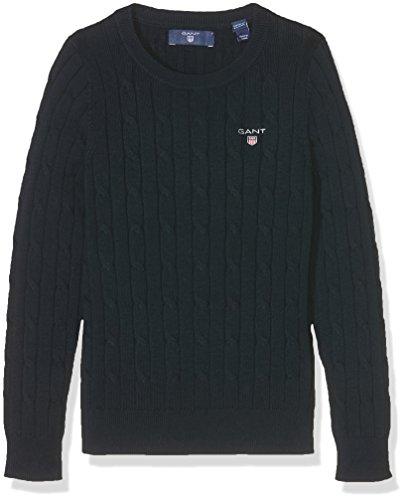 GANT Mädchen Stretch Cotton Cable Sweater Pullover, Blau (Evening Blue 433), 9-10 Jahre (Herstellergröße: 134/140)