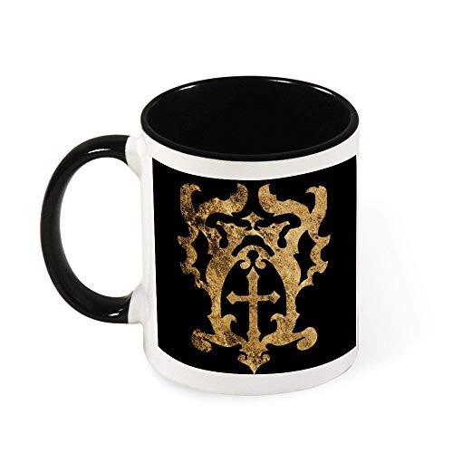 N\A Castlevania Belmont Crest Taza de café de cerámica para té, Regalo para Mujeres, niñas, Esposa, mamá, Abuela, 11 oz