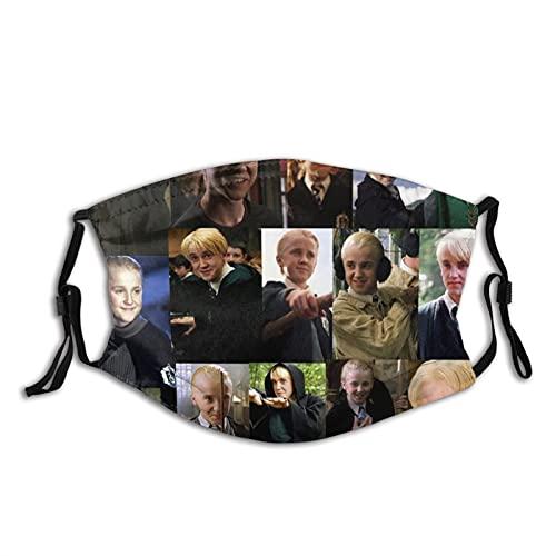 Draco Malfoy Can Smile - Máscara de tela unisex lavable y reutilizable para proteger la cara, pasamontañas para adultos y deportes al aire libre con 2 filtros