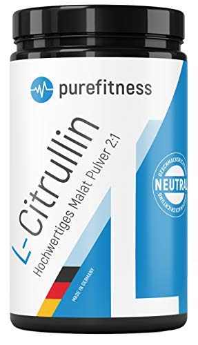 L-Citrullin Malat Pulver + Piperin I 2:1 I 450g I Vegan I Hochdosiert & Rein ohne Zusätze I 10.000mg Citrullin Pulver I Geschmacksneutral