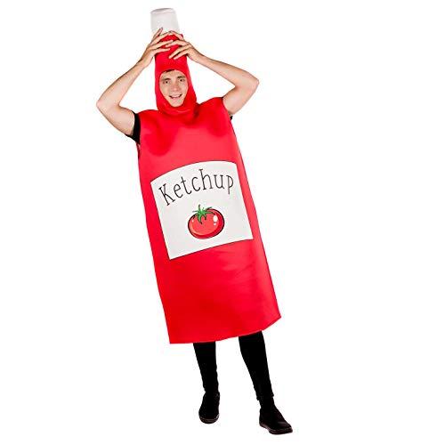 Fun Shack Rosso Ketchup Costume per Uomini e Donne - Taglia Unica