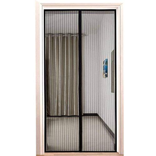 Flei Fliegengitter tür 90x230cm, Magnetischer Fliegenvorhang Moskitonetz, Auto geschlossen, faltbar, for Türen/Patio - Schwarz