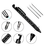 Tech Gifts for Men, Morning Tree Unique Small Cool Pens for Dad, Top Tech Gadgets, 7 in 1 Multi Tools for Men, Small Novelty Gifts, Best Office Gifts (Black-7 in 1)