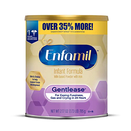 Enfamil Gentlease Infant Formula - Clinically Proven to Reduce Fussiness, Gas, Crying in 24 Hours - Value Powder Can, 27.7 oz