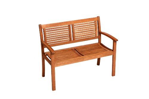SAM® Gartenbank Cordoba aus Akazie, FSC® 100% zertifiziert, 110 cm breit, 2-Sitzer Holzbank, geölt, Gartenmöbel aus Holz, Massivholz-Bank für Terrasse & Balkon