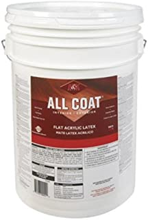 H&K Paint Company Acrylic Latex Paint Interior/Exterior Flat Basic White 5 Gl