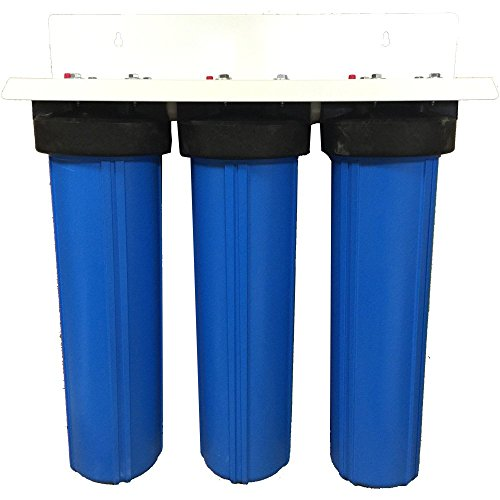 3 Stage 20' Big Blue Whole House Activated Alumina Water Filter...