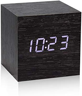MICARSKY Digital Alarm Clock for Bedrooms Bedside Desk 7 Levels Brightness Wooden Electronic product image