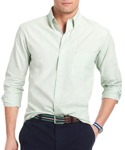 IZOD Men's Essential Solid Woven Shirt Amer Dream XL