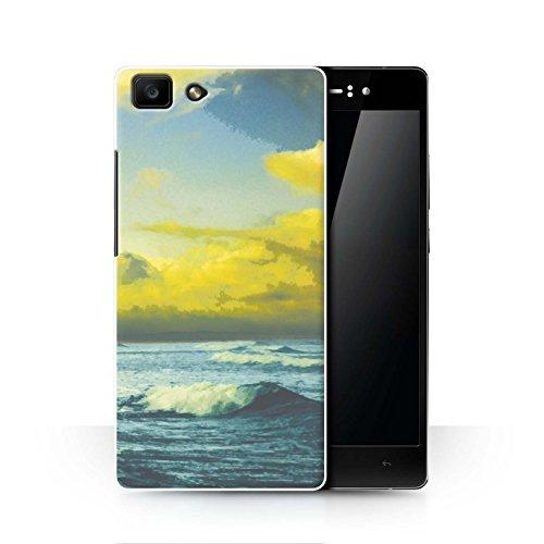 Stuff4 Hülle/Hülle für Oppo R5 / Strand Wellen/Ozean Muster/Schöne Weltkunst Kollektion