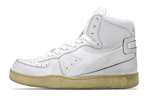 Diadora Heritage Schuh-Sneaker-Unisex-MI-Basketball-Used Weiß - 40