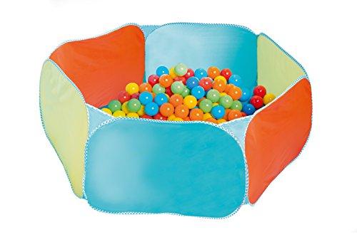 roba Bällebad, Spiel- & Krabbelbad 6-eckig inkl, 100 Bällen, Spielzeug für Babies & Kleinkinder