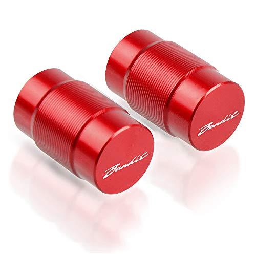 Motocicleta De Neumático Tapones de Válvula para Neumáticos para Suzuki GSF 250 600 600S 650 650S 650N 1200 1250 Bandit 650S-Rojo