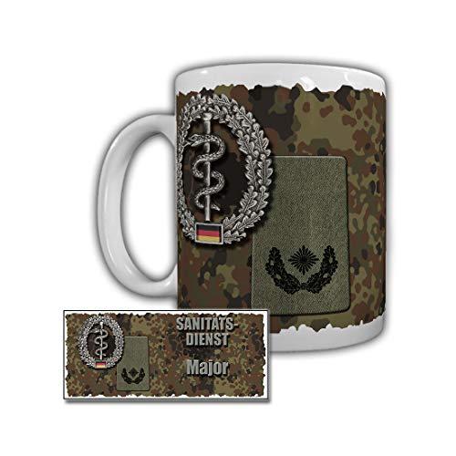 Tasse Sanitätsdienst Major Rangabzeichen Bundeswehr Dienstgrad #29963