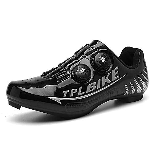 Zapatos De Bicicleta para Hombre Y Zapatos De Scooter SPD Y Delta Compatibles, Adecuados para Zapatos De Bicicleta De Pedal para Hombres (38,Negro)