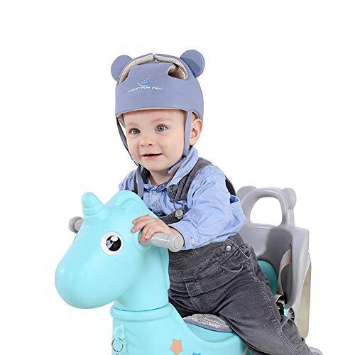 Casco de seguridad ajustable para bebé Protectores para la cabeza Arnés de protección Sombrero Proporciona un entorno más seguro al aprender a gatear Jugar a pie Gris