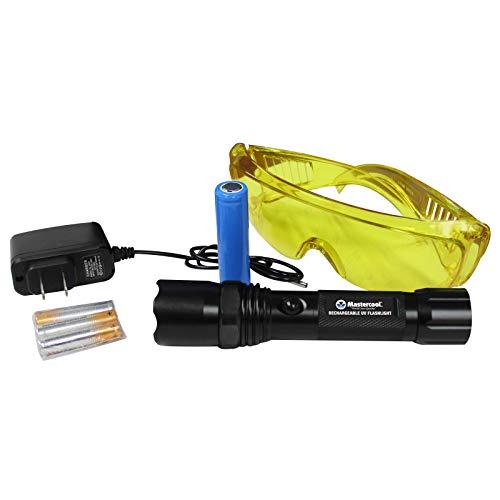Mastercool 53518-UV Rechargeable True UV Flashlight,Black
