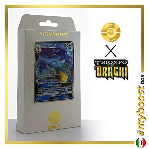 Kingdra-GX 18/70 - #myboost X Sole E Luna 7.5 Trionfo dei Draghi - Box di 10 Carte Pokémon Italiane