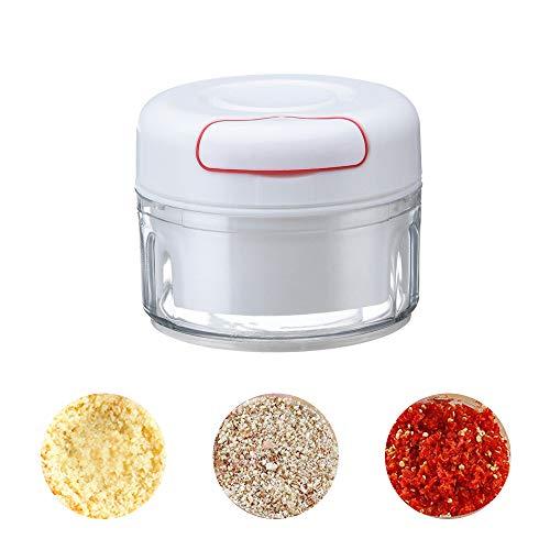 Picadora manual de alimentos mini picadora de verduras, ajo, cebolla, cocina, multifuncional.