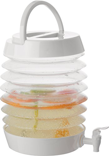 Faltbarer Kunststoff Getränkespender mit Zapfhahn für Limonaden, Säfte und Schorlen, das ideale Party Gadget für Garten, Picknick und Co. von notrash2003