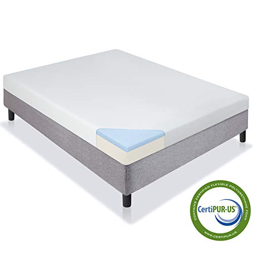 Best Choice Products 5' Dual Layered Gel Memory Foam Mattress CertiPUR-US