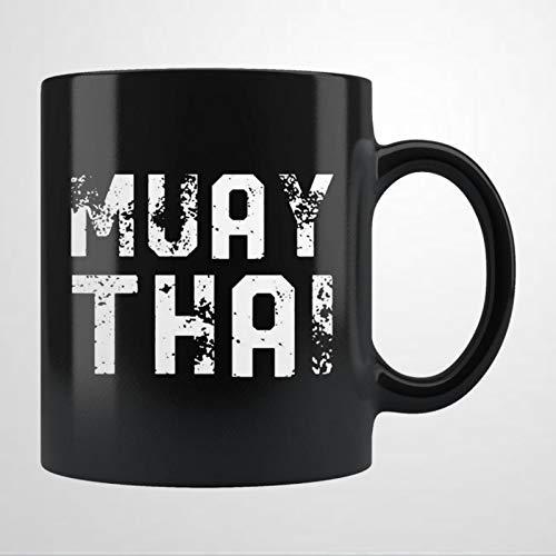 Muay T-hai Taza de café Muay T-hai Fighter, taza de té de cerámica, regalo de cumpleaños para hombres y mujeres
