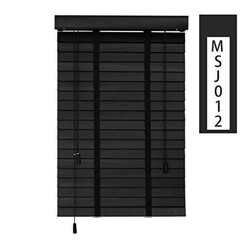 Horizontal Blinds Vorhänge Blackout rollenfarbtöne,Horizontale jalousien Fenster blind Vorhang drapieren privatsphäre licht Filter Plissierte stoffschirm-schwarz 58x162cm(23x64inch)