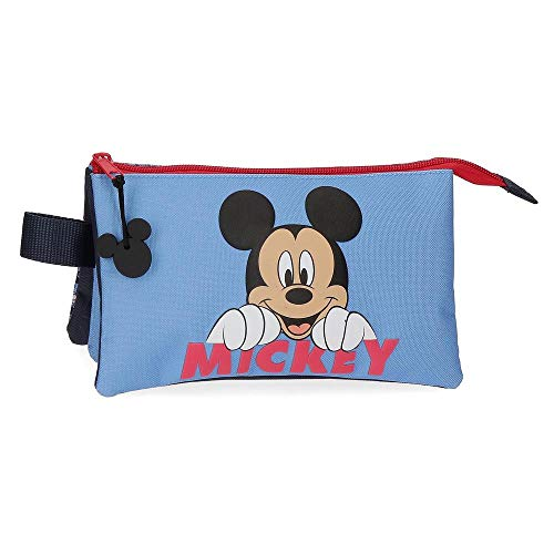 Disney Mickey Moods Estuche Triple Rojo 22x12x5 cms Poliéster