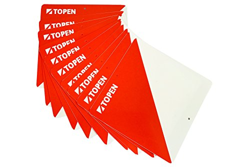 TOPEN Balizas plastifiées 15 x 15 (Lot de 10), Orange, M