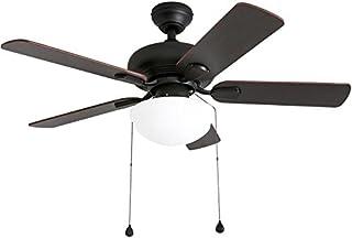 da1520e761d Harbor Breeze Caratuk River 42-in Oil Rubbed Bronze Indoor Ceiling Fan with Light  Kit