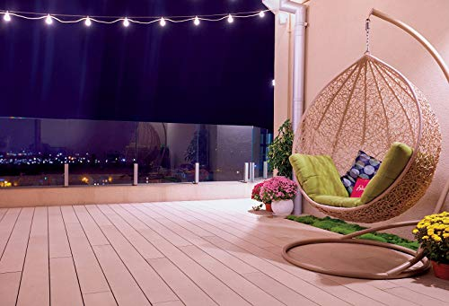 AOFOTO 6x4ft Rooftop Patio Interior Design Backdrop Hanging Swing Chair Flowers String Lights Night View Photography Background for Girls Portrait Party Decor Photoshoot Vinyl Studio Wallpaper